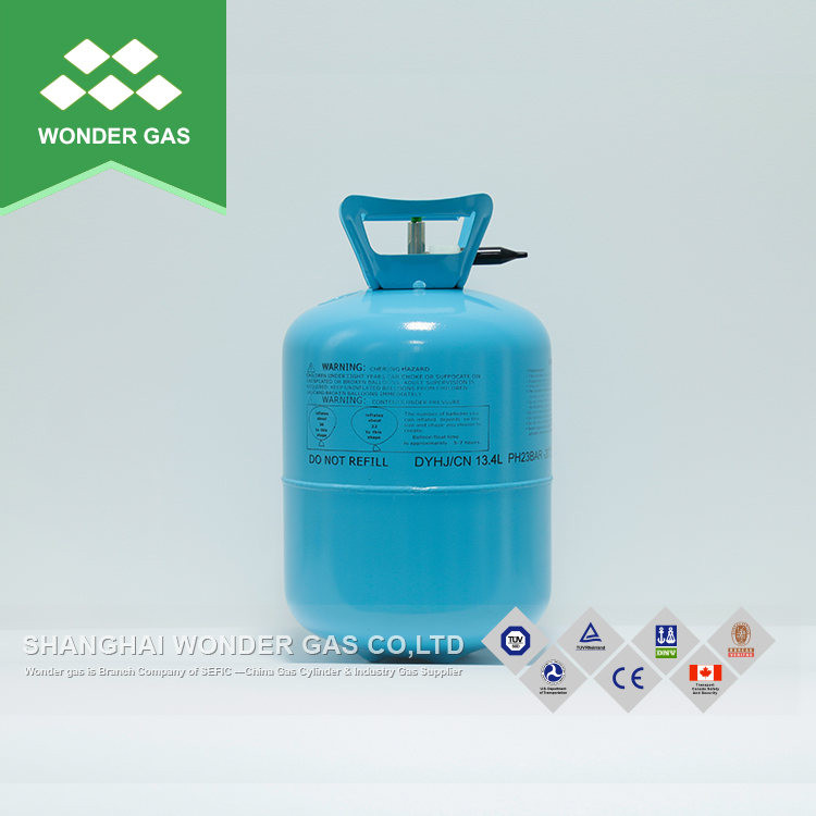 Quality-Assured 13.4L/30Lbs Small Steel Cylinder Disposable Helium Balloon Gas Cylinder