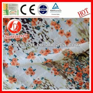 various pattern silk organza print fabric made in china