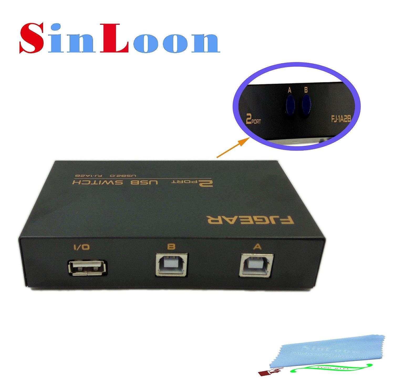 2 Port USB 20 Sharing Manual Switch Box Hub PCs To 1 PrinterSinLoon