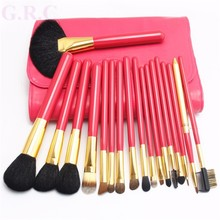 Private Label 18 pcs Professional Make up brush set, Goat hair makeup brushes free samples, makeup brushes manufacturers china