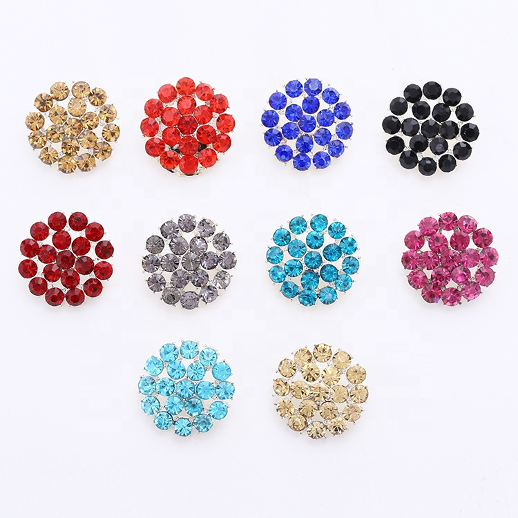 <strong>Factory</strong> Wholesales Flower Shape <strong>Buttons</strong> New Design Sewing Plated Round Metal Shank Buckle For Shoe Decorations