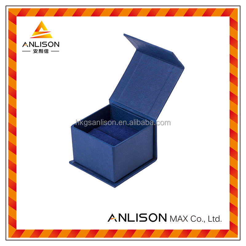 Custom logo printing jewelry packaging box inner with foam&velvet tray