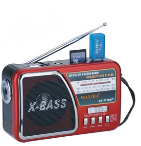 waxiba xb 3bands multi band usb radio receivers with torch light XB-512URT