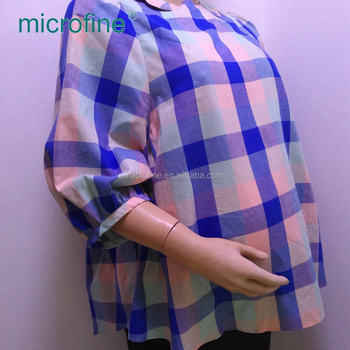Fashion design soft sleeve O neck print casual maternity shirt top blouse