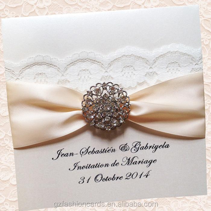 2015 Hot Sale Elegant Lace Luxury Wedding Invitation Buy Wedding