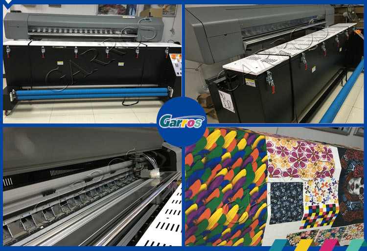 high resolution industrial inkjet fabric printing machine textile digital printer