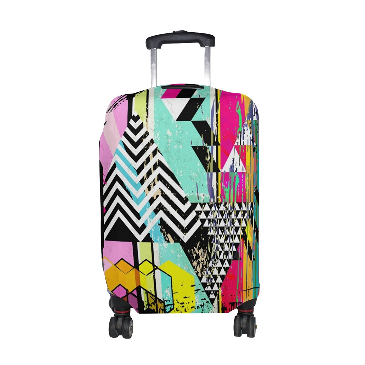 FOLPPLY Colourful Stripe Luggage Cover Baggage Suitcase Travel Protector Fit for 18-32 Inch