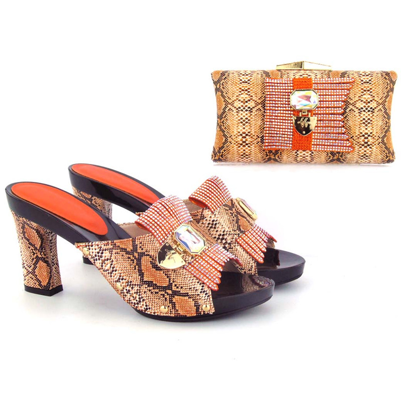 shoes and clutch bag set heel Wholesale matching and women shoes high italian bag n86Tq
