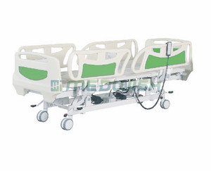 Wholesale prices luxury remote control ABS medical bed adult patients care nursing 5 functions icu electrical hospital bed
