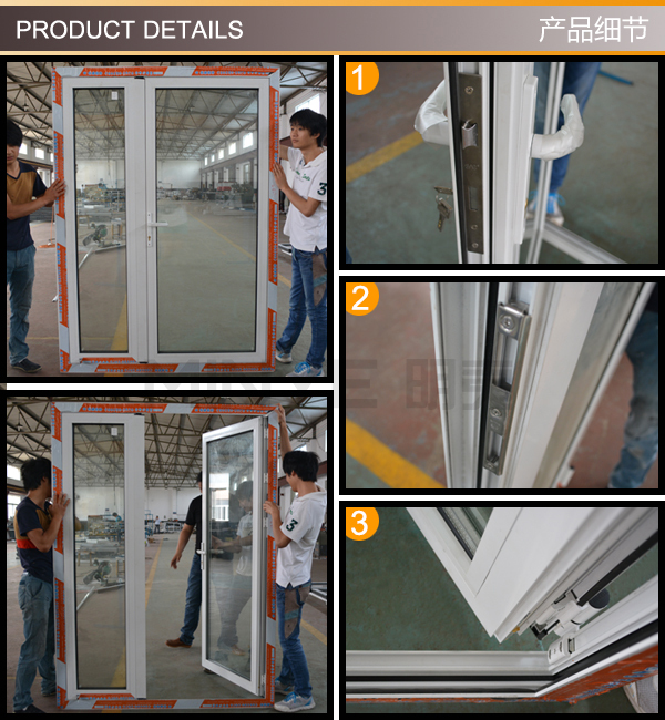 Kfc design automatic glass front shop door with
