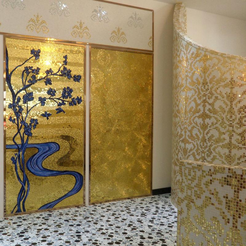 Jy jh gs01 a duvar dekor altın backsplash büyük simetri cam duvar ...