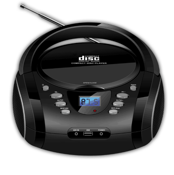 2019 novo design portátil boombox CD player com MP3 FM USB AUX BT