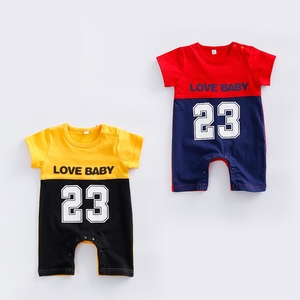 Baby Rompers 2017 Newborn Baby Basketball Sports Bodysuit Short Sleeve Jumpsuit