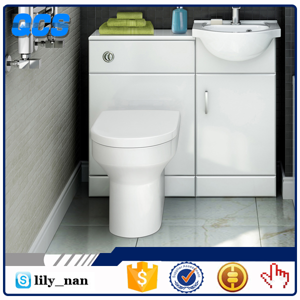 Ceramic toilet and wash basin for bathroom sanitary ware suite