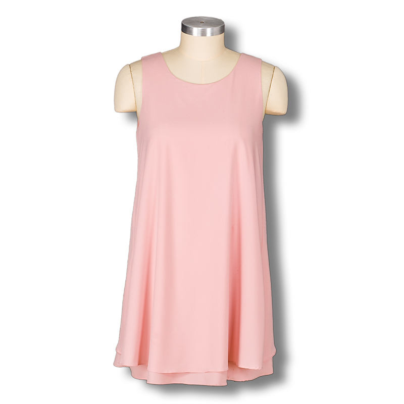 2015 Summer fashion women sundress qweet cute sleeveless pink loose prom party tank top dress mini back bow beach dresses