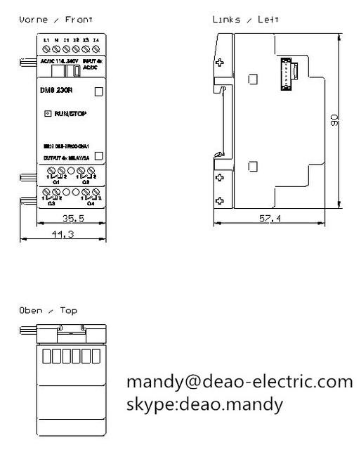 Siemens 6ED1 055-1FB00-0BA1 módulo de salida digital en//di 4//DO 4