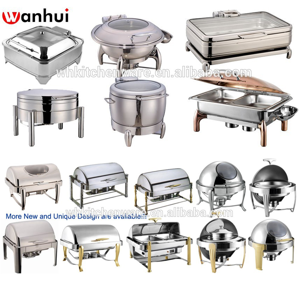 Deluxe indian copper chafing dishes