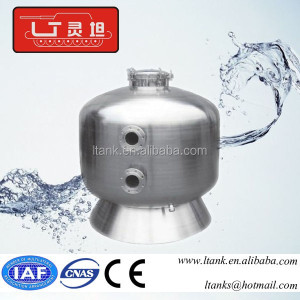 Side mount sand filter with multiport valve / house sand filter