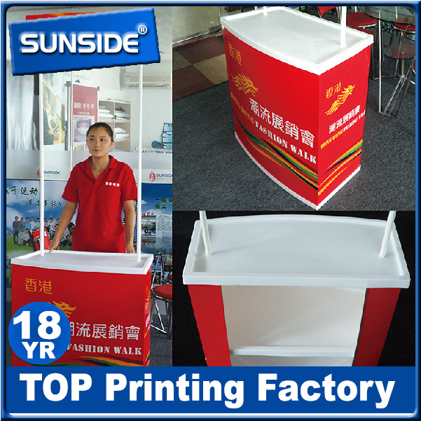 direct sales ABS Promotion Table, Aluminum Pop Up Counter, High Quality Promotion Counter-Q128