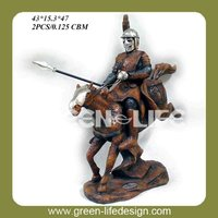 Polyresin knight figurine antique
