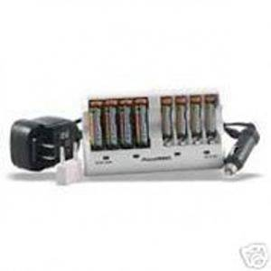 8-Pack AA NiMH Batteries 2900mAh with Quick Charger 110-220v