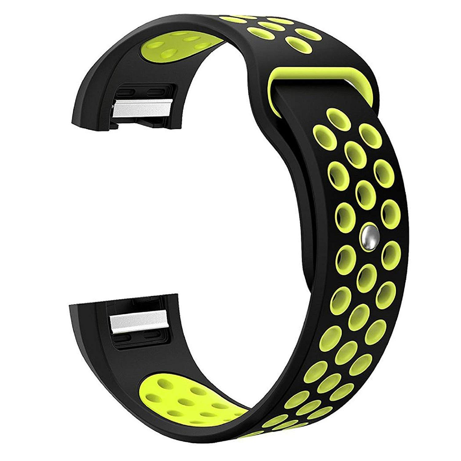 """Owill Fashion Sports Soft Comfortable Silicone Bracelet Strap Band For Fitbit Charge 2, Applicable Wrist: About 6.4""""-8.8"""" (165mm-225mm) (Black)"""