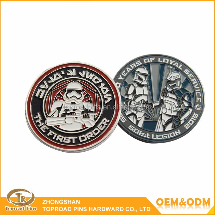 Zhongshan supplier high quality craft gift small round custom cheap challenge iron coins