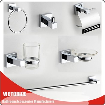 2060 Good Quality Zinc Alloy Bathroom Accessories Br Stainless Steel Bath Sets