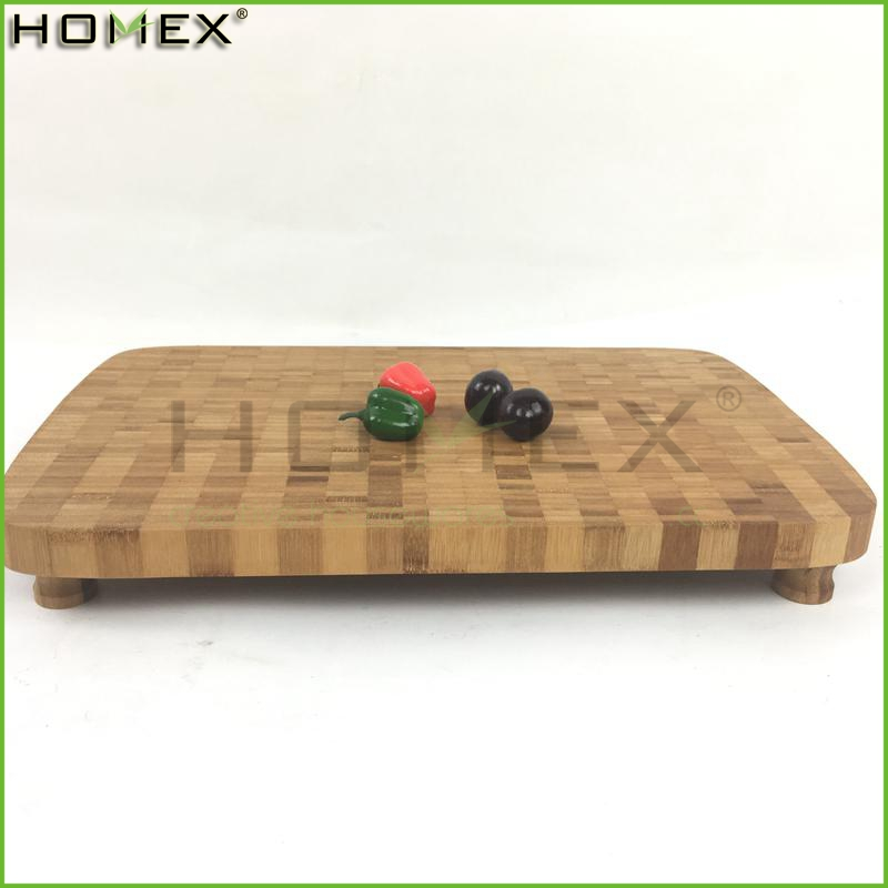 High Quality Bamboo Cutting Board Block with Non-Slip Feet/Homex_Factory