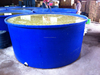 1500lt round Plastic trough with Bung &plug