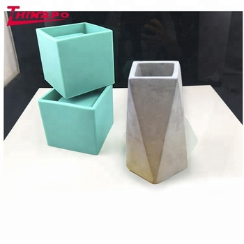 Concrete Planter Silicone Mold Square Cement Pot Forms Succulent