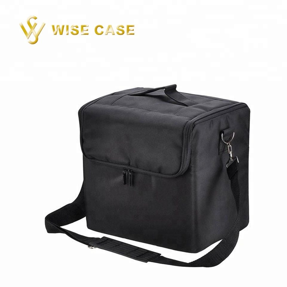 Nylon Black Soft Makeup Train Bag With Polyester Shoulder Strap Toiletry Product On Alibaba
