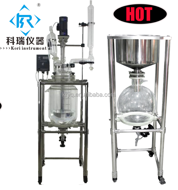 Buy Tubular Jacketed glass reactor from Xingyang kori Instrument factory