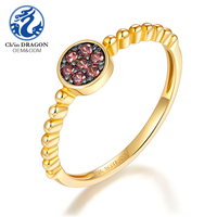 Elegant 1 gram simple gold ring design for women