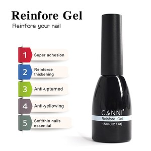 #62507 CANNI Free Samples 15ml No Wipe Top Coat Nail Gel Polish No Sticky Layer No Wipe Top Coat Reinforce Gel