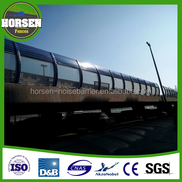 Highways and Railways Sound Reduction System Noise Barrier Sound Wall