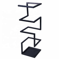 Square Black Iron Light Wet Modern Umbrella Stand For Entryway