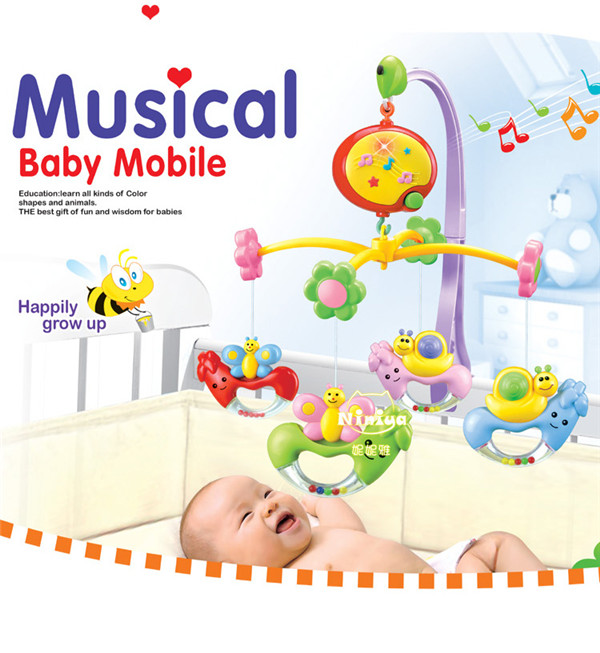 B/O baby bed bell with music