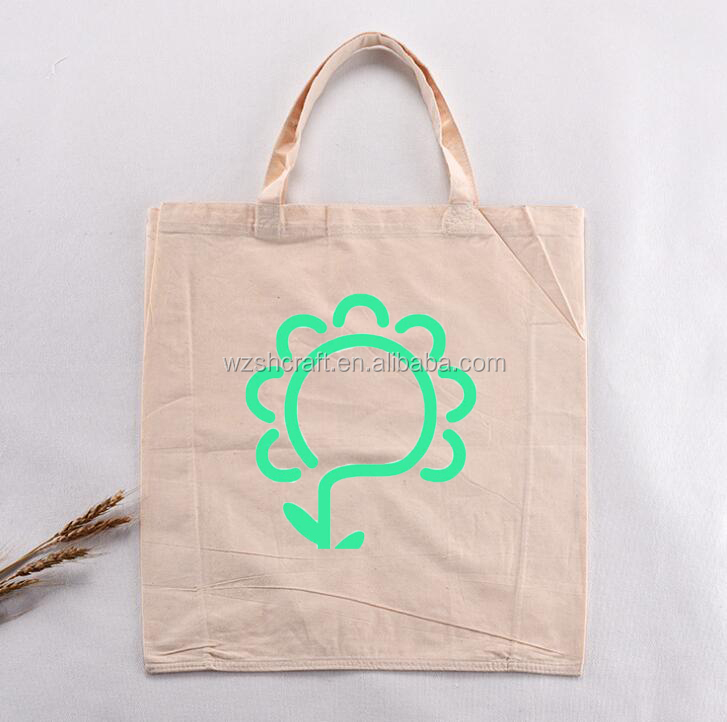 Factory natural organic cotton tote bag,printed cotton bag