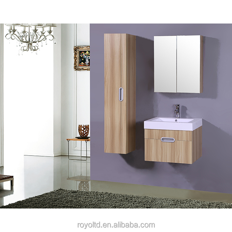 Hotel home villa toilet unit furniture mdf bathroom vanity , modern bath mirror cabinet cabinet