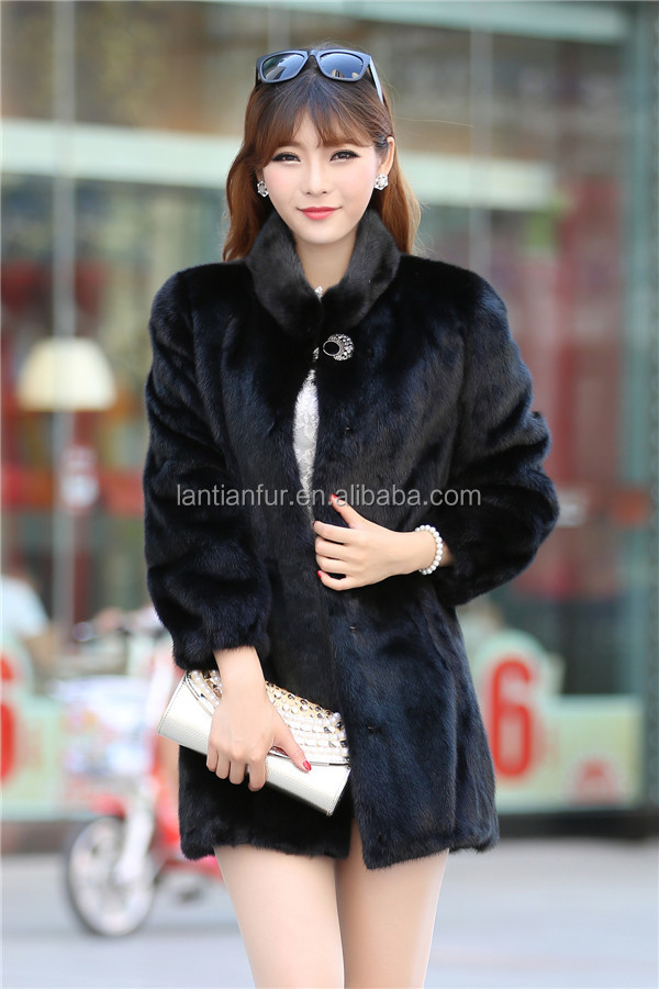 Popular Genuine Mink Fur Coats/ Mink Fur Coats With Fur Hat /fur ...