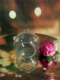 Wedding ornament Crystal glass hollow ball for candle holder CH-97