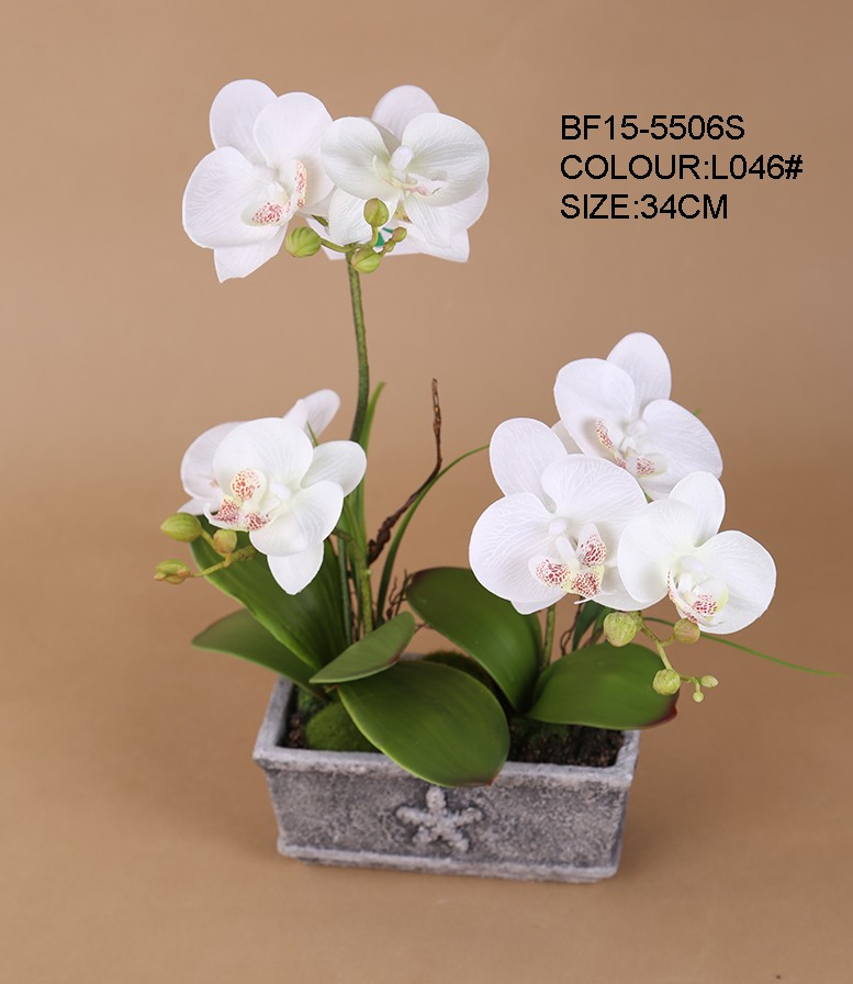 High Quality Artificial Flower Orchid Pot