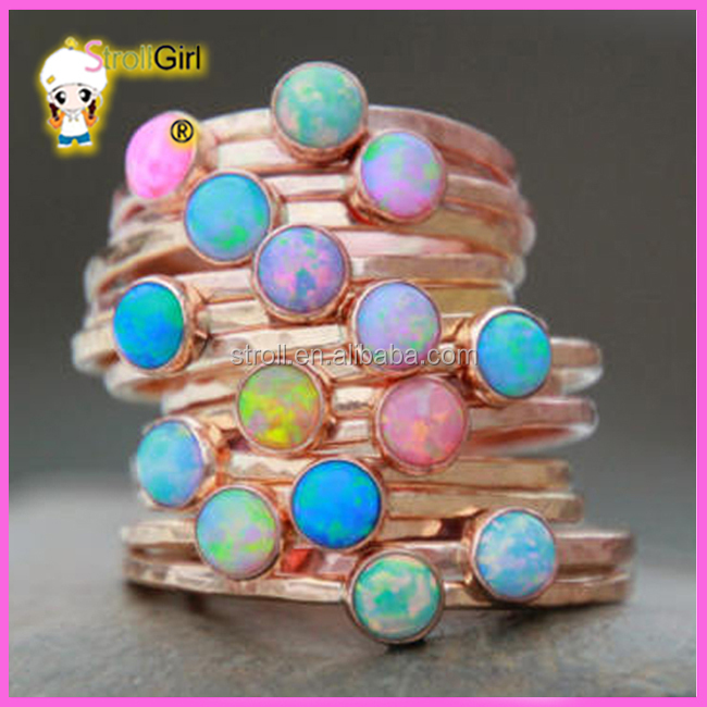 Gemstone opal ring jewelry women 925 sterling silver gold jewelries