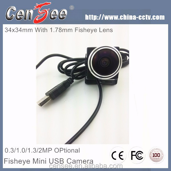 170 Degree Fisheye Wide Angle 1.3MP 960P Mini USB2.0 CMOS Super Micro Camera, Best Cheapest USB ATM Camera In Indian