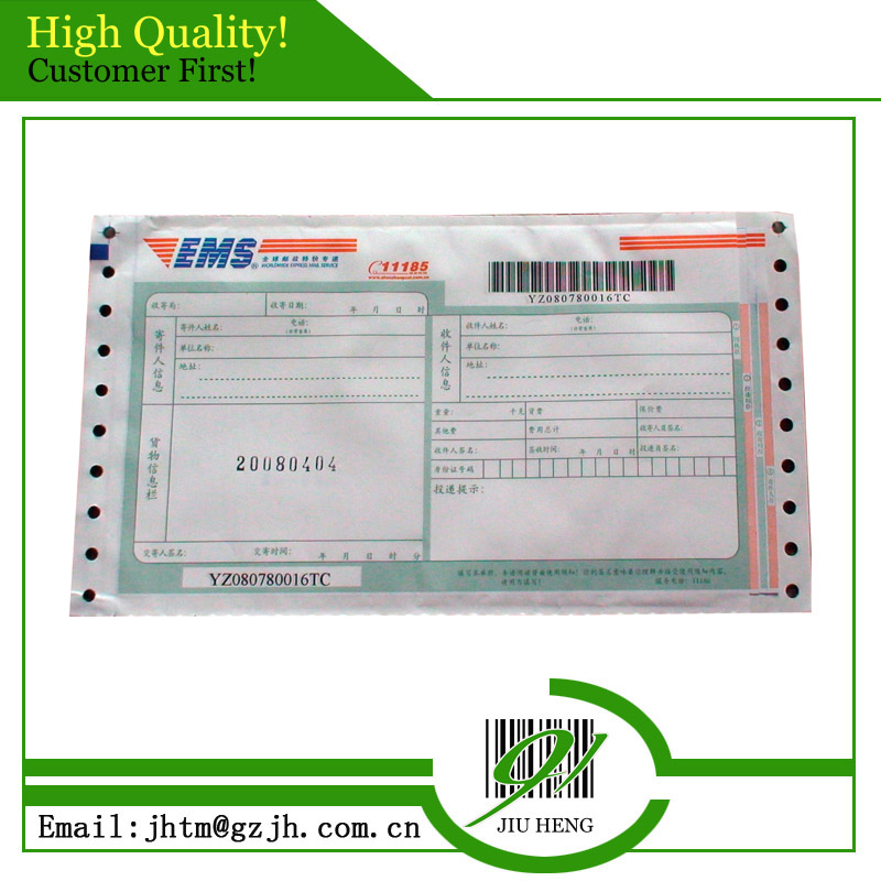 High quality printed business form Express and Logistic Waybill for courier company