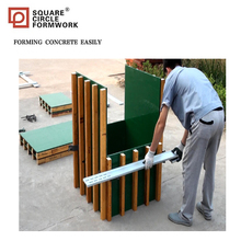 Prefabricated square column form for concrete construction