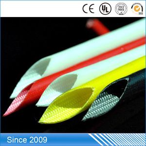 Cheap silicone rubber coated glass fiber tube, fiberglass tube for cable protection