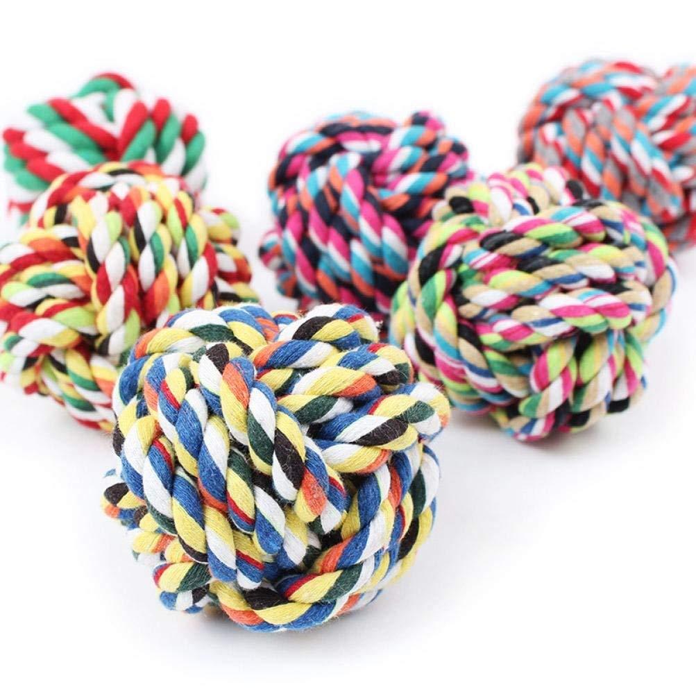 pet Toy,Pikolai Bite Tetherball Pet Cotton Rope Toys Dog Clean Teeth Knot Ball Diameter