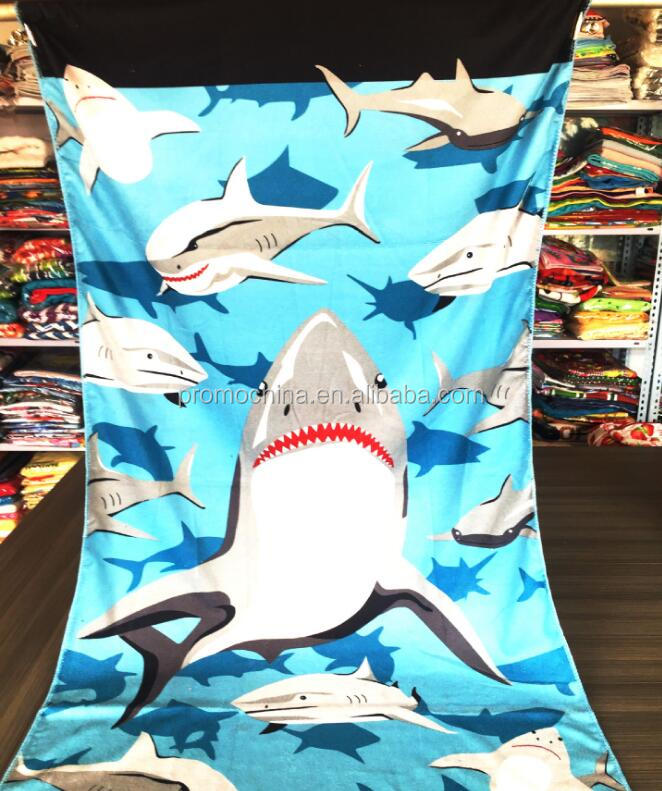 Cheap Customized Heat Transfer Printing Full Color Microfiber Beach Towel